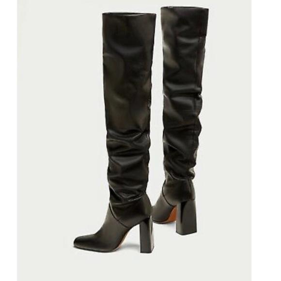 Heel Leather Boots Tall | Poshmark